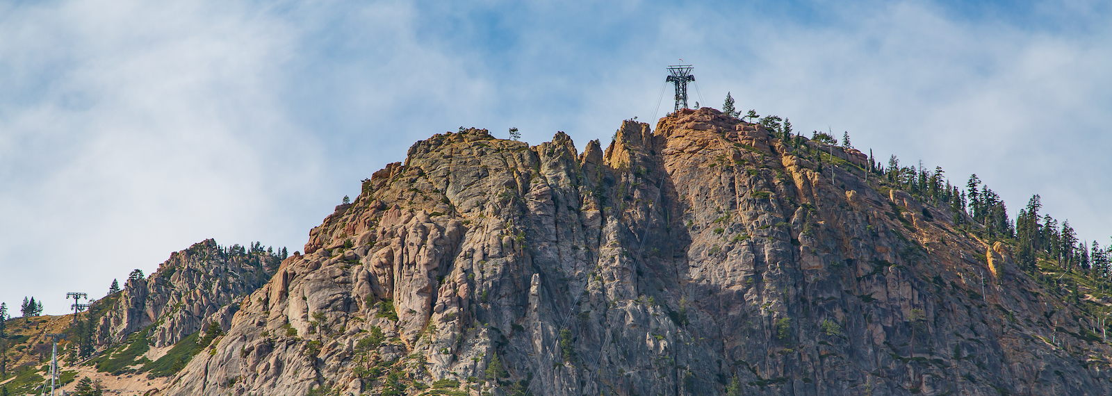 The iconic tram face and home of the Tahoe Via Ferrata