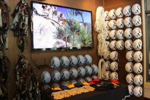 Climbing gear located in the Alpenglow Expeditions office in Squaw Valley