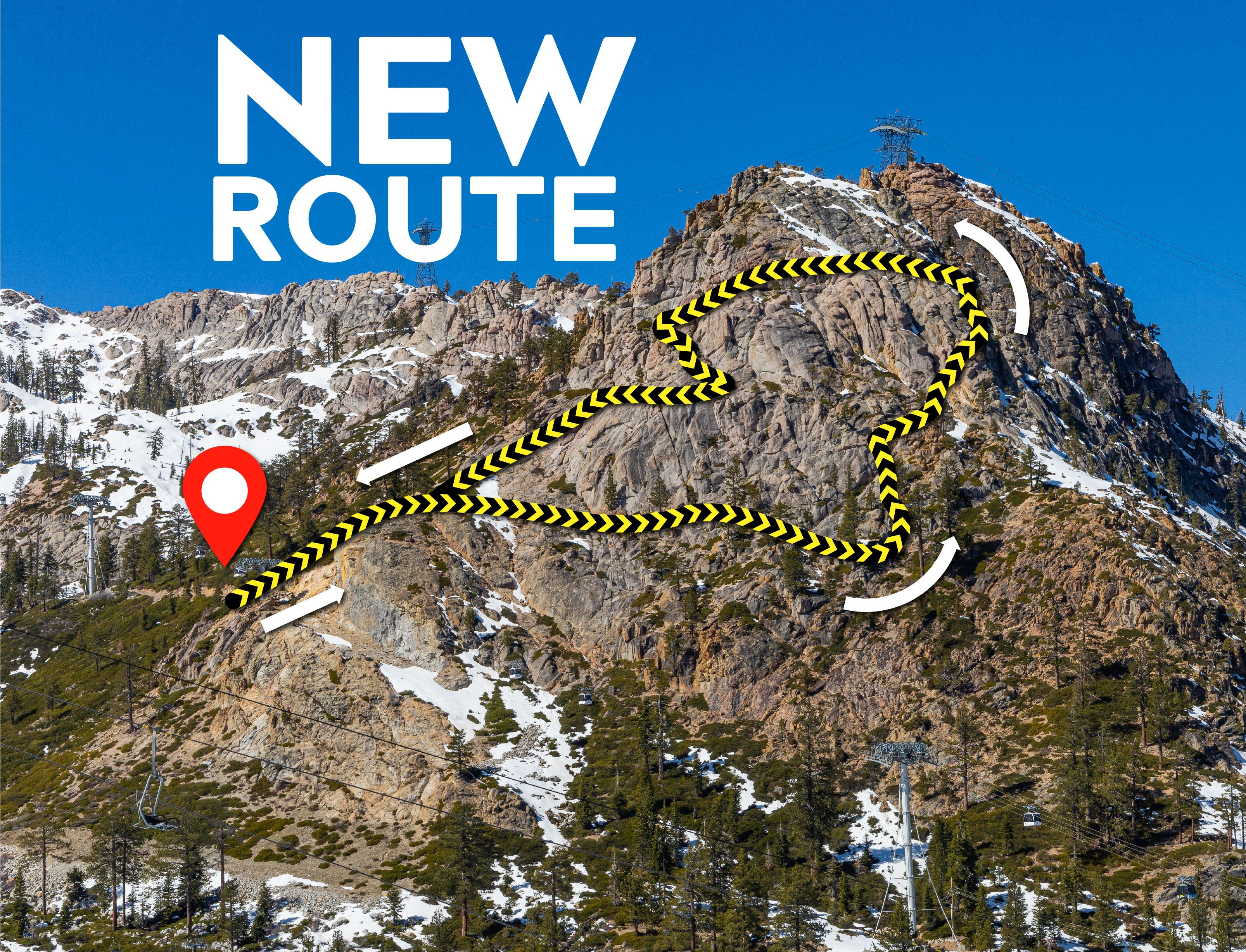 New Route on the Tahoe Via Ferrata